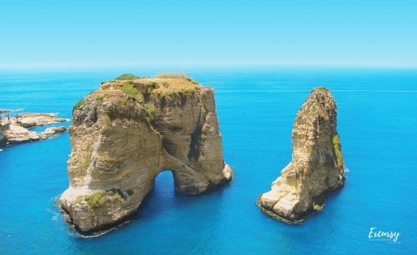 Rocha do pombos Beirute